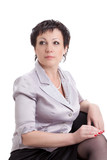 closeup portrait of adult businesswoman
