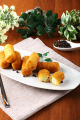 Fried potato croquettes