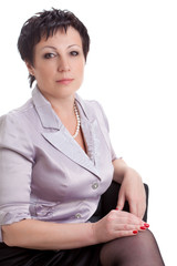 closeup portrait of adult businesswoman