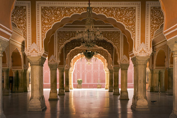 royal interior in Jaipur palace, India