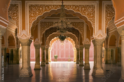 Papiers peints Inde royal interior in Jaipur palace, India