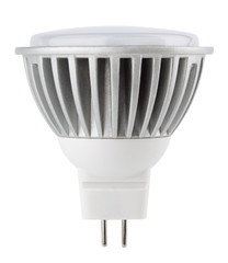 Newest LED light bulb isolated on white with clipping path