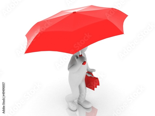 3D people - umbrella
