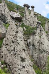 Stone mushrooms rocks
