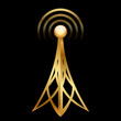 Vector gold antenna icon