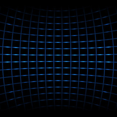Vector background - blue neon net