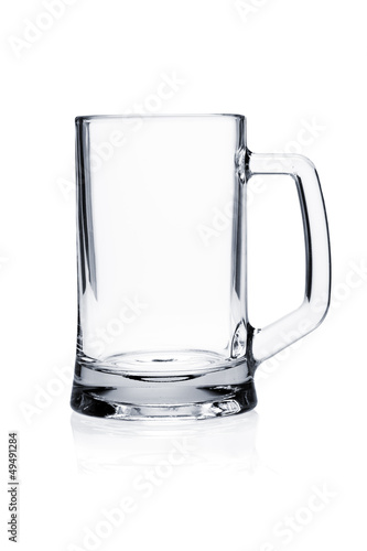 Cocktail glass set. Empty beer mug on white - 49491284