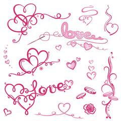 Valentinstag, Valentin, Herz, Herzen, Liebe, love, set