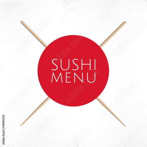 Sushi menu cover template - 49493220