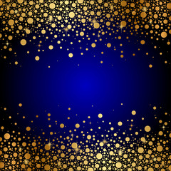 Vector blue and gold luxury background