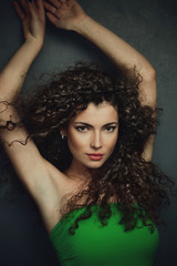 curly hair woman