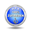 button 100% Zufrieden