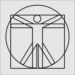 Vitruvian Man pentagram human Leonardo da Vinci
