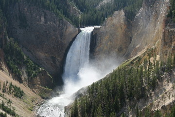 Lower fall in the Yellowstone National Park