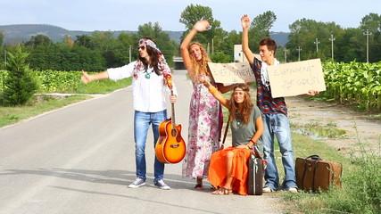 Hippie Group Outdoor