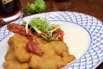 Schnitzel with salad