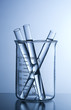R &D glass material in a chemical laboratory