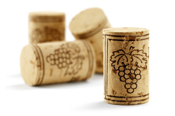 bottle corks isolated