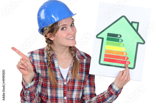 Holding an energy consumption label