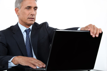 executive with computer