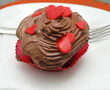 Valentine chocolate homemade cupcake