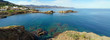 Panorama over Costa Brava and its blue waters
