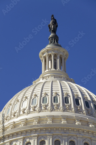 Dome of the Capitol building in Washington DC, USA