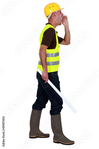 construction site supervisor shouting