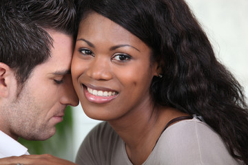 Mixed-race couple