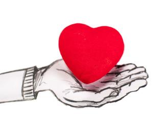main offrant un coeur