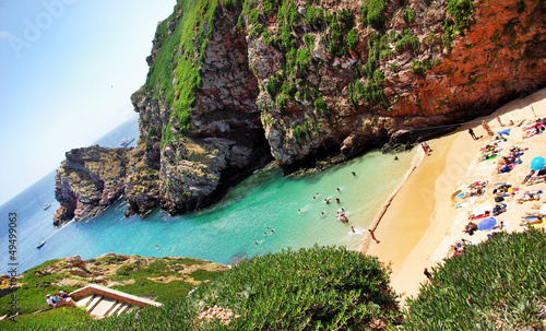 Beach of berlenga island, Portugal.