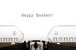 Typewriter Happy Easter