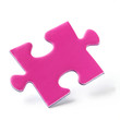 Jig Saw Puzzle - One Pink Piece