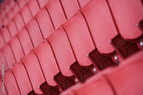 Close-up of Stadium seats