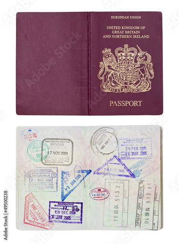 UK Passport inside and outside