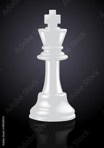 Chess White King - Vector Illustration