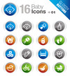 Glossy Buttons -  Baby icons