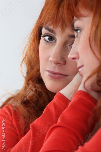 Portrait of redhead girl