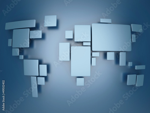abstract simplified world map