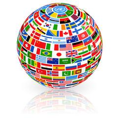 Big Flag Globe