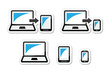 Responsive design - laptop, tablet, smarthone vector icons