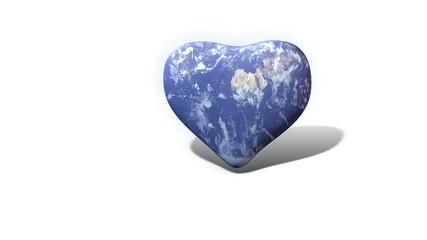 Erde in Herzform