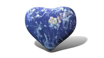 Erde - Herzform
