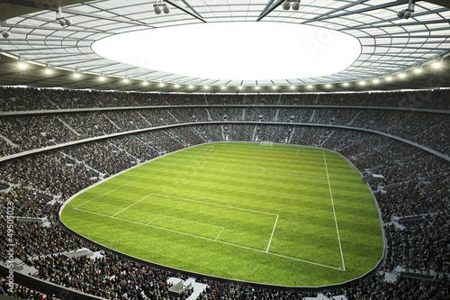 Stadion mit Blick von oberer Tribüne