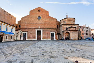 Padua Cathedral with the Baptistery, Italy
