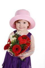 Mädchen sagt alles Liebe zum Valentinstag Muttertag