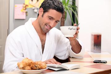 relaxing coffee