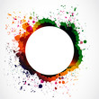colorful grunge ink splash circle