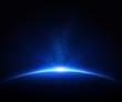 Earth sunrise in space