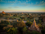 Sunset over the Bagan Central Plain